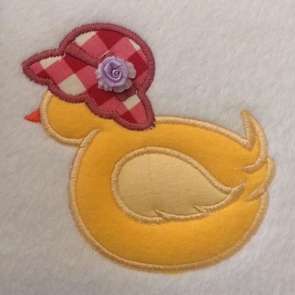 SDS0363 Applique duckling