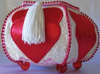 Trapunto Valentine Hearts-3