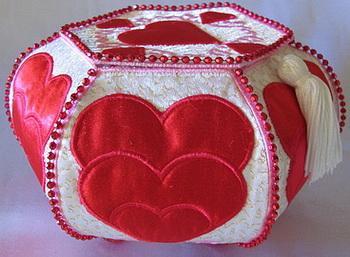 Trapunto Valentine Hearts-4