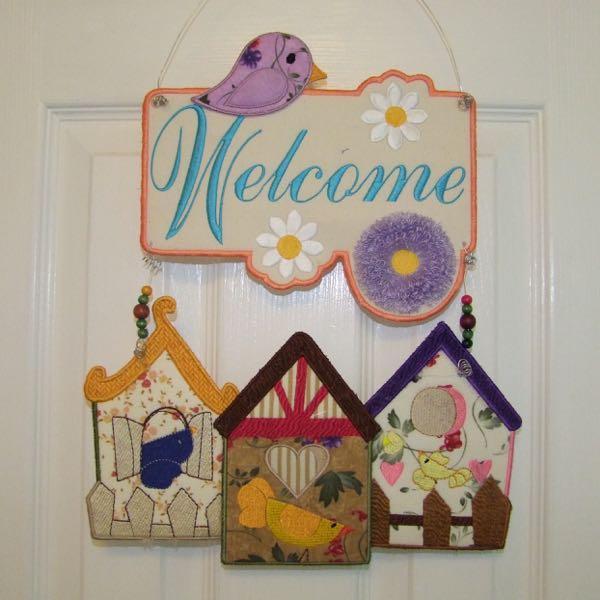 Birdhouse Welcome Dangler