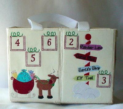 Santas Advent Work Shop Tote And Play