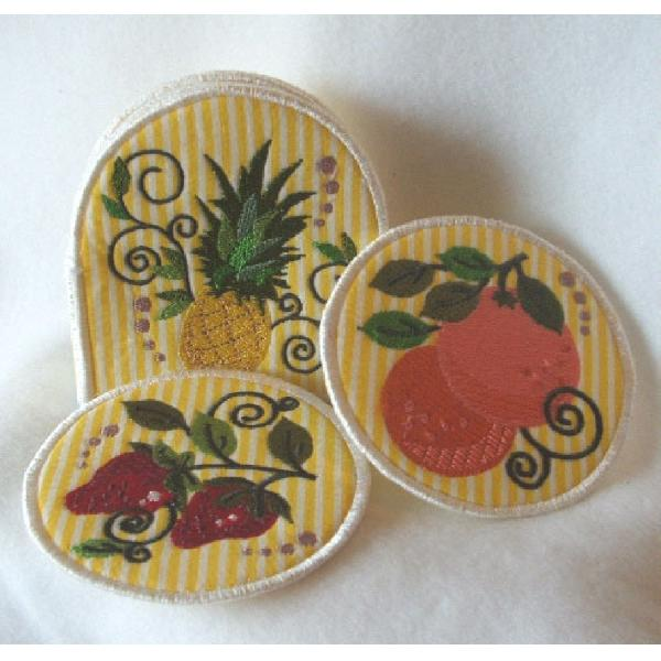 Jacobean Fruits Coasters