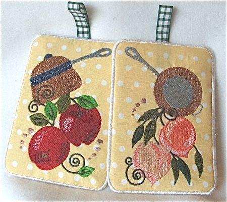Jacobean Fruits Potholders