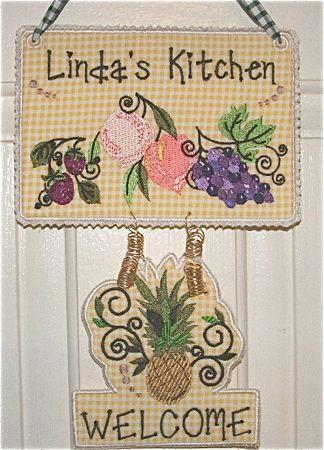 Jacobean Fruits Kitchen Sign