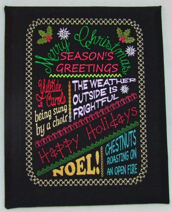 Christmas Chalkboard Merry Christmas