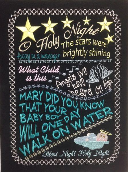 O Holy Night Chalkboard