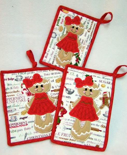 Gingy Girl Applique With Free Potholder Project
