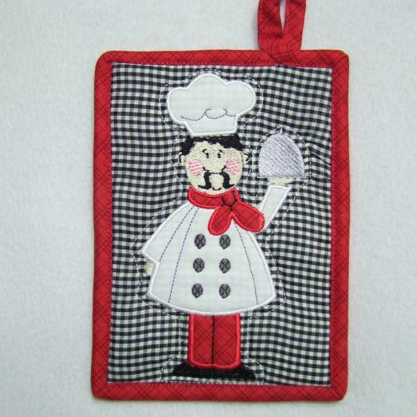 French Chef Applique with Free Potholder Project