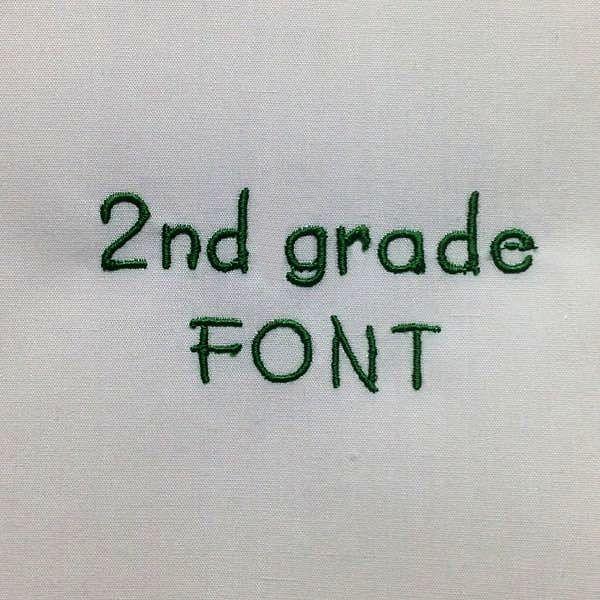 2nd Grade Font