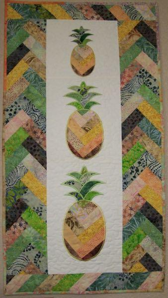 Amish Braid Pineapple Designs 3 Sizes Table Runner Project