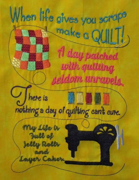 Quilt Sayings 4 sizes