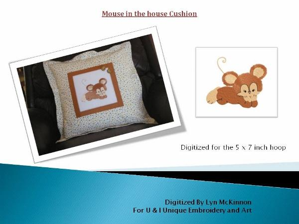 Mouse in the House Cushion