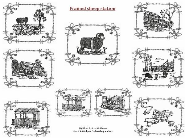 OUR COUNTRY AUSTRALIA FRAMED SHEEP STATION