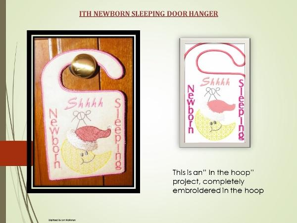 ITH NEWBORN DOOR HANGER