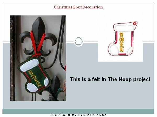 Christmas Boot Decoration