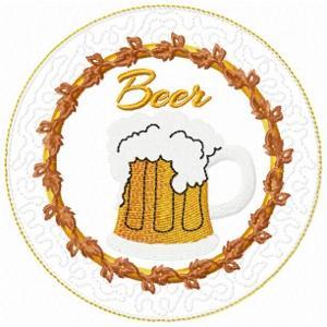 ITH Beer Mug Rug