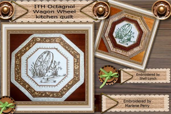 ITH Wagon Wheel Kitchen Quilt