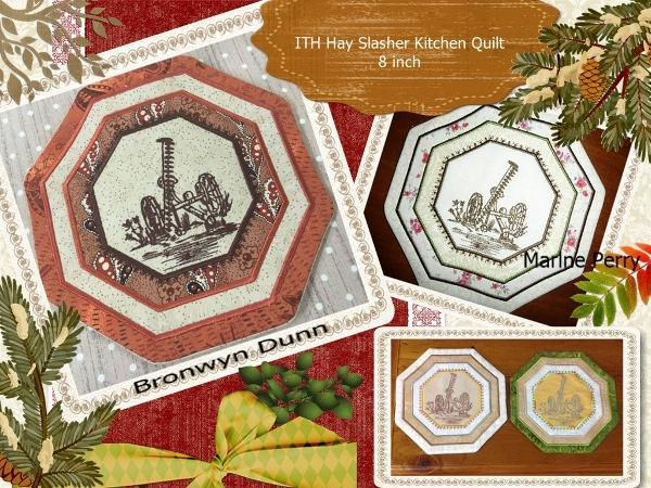 ITH Hay Slasher Kitchen Quilt
