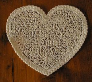 Free Standing Lace Heart