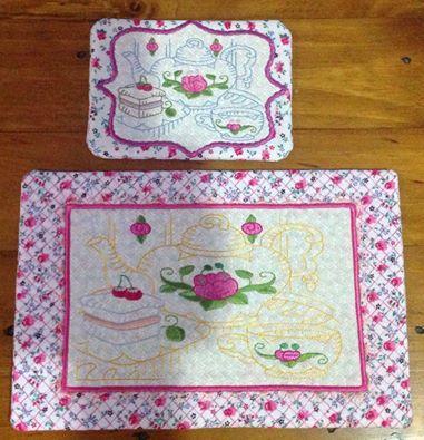 ITH Teatime Mug Rug and Tablemat No 1