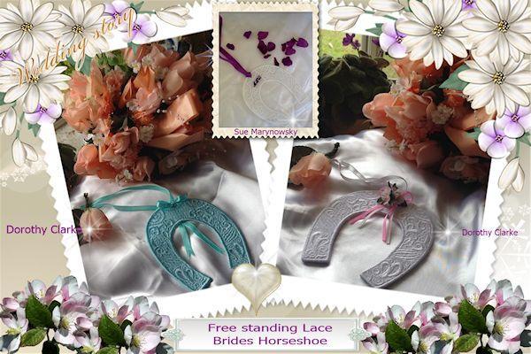 Free standing Lace Brides Horseshoe