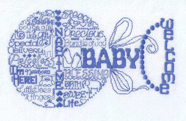 Lets Love Baby Satin Stitch
