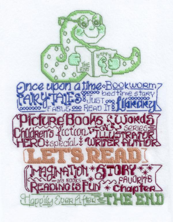 Lets Read to Kids Satin Stitch