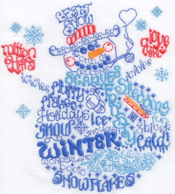 Lets be Jolly Satin Stitch