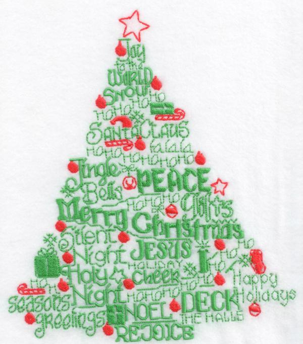 Lets Deck the Halls Satin Stitch