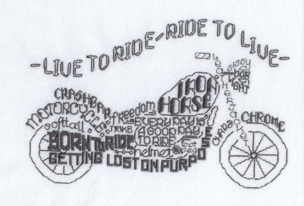 Lets Ride Satin Stitch