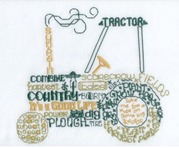 Lets Tractor Satin Stitch